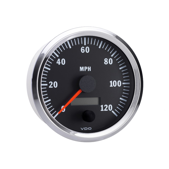 "Semi Truck Electrical Programmable Speedometer Gauge Vision Chrome 4"" Diameter (100mm)"