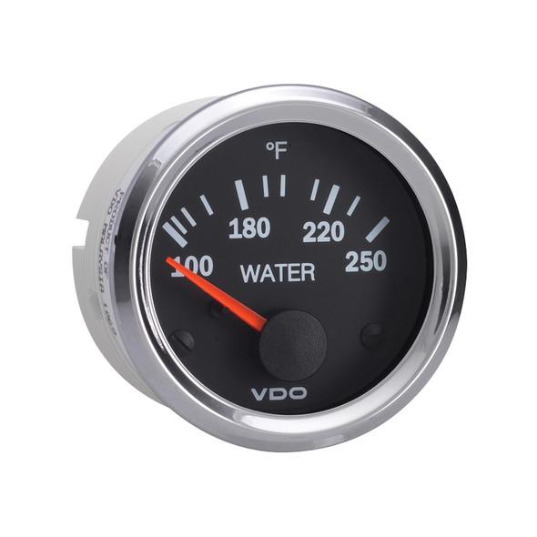 Semi Truck Electrical Water Temperature Gauge Vision Chrome
