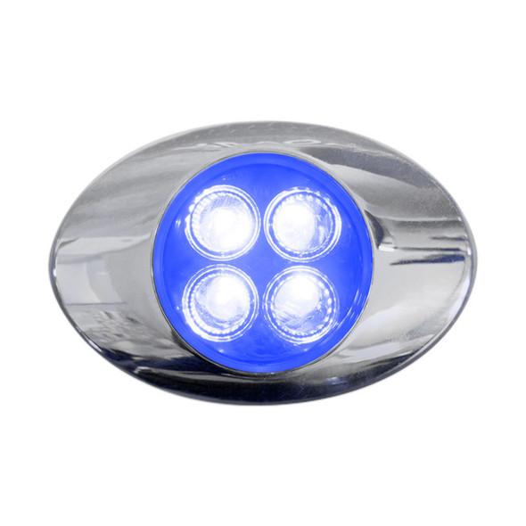 Millenium M3 Style Dual Revolution Amber & Blue LED Marker Light Blue Lit