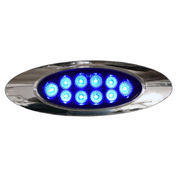 Millenium M1 Style Dual Revolution Amber & Blue LED Marker Light Blue Lit