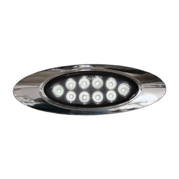 Millenium M1 Style Dual Revolution Amber & White LED Marker Light White Lit
