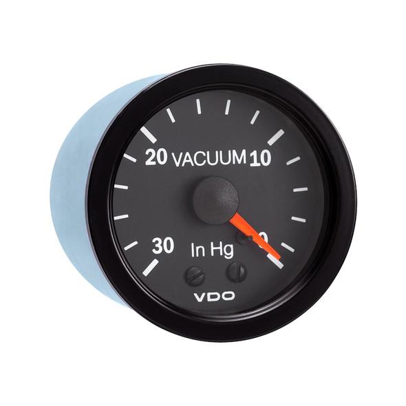 """Semi Truck 30"""" Hg Mechanical Vacuum Gauge Vision Black"""