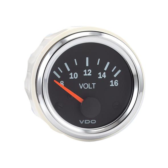 Semi Truck Electrical Voltmeter Gauge Vision Chrome