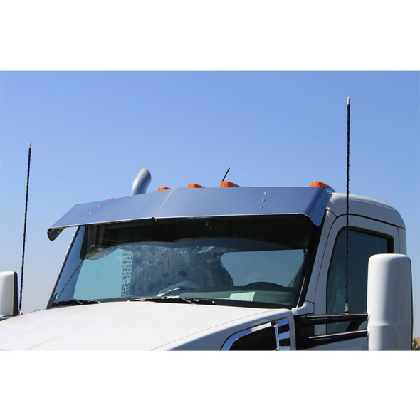 """Kenworth T680 T880 11"""" Replacement Drop Visor For Factory Stainless Front"""