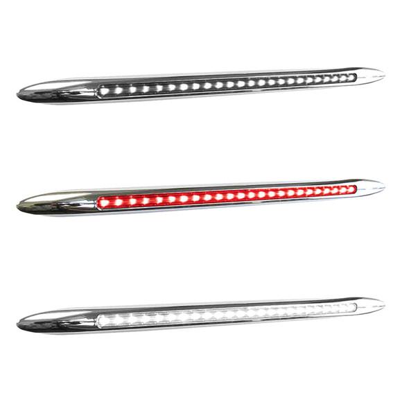 """17"""" Dual Revolution Flatline Red And White LED Marker Light"""