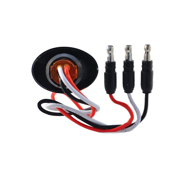 Mini Oval Button Dual Revolution Red And Blue LED Marker Light Wiring