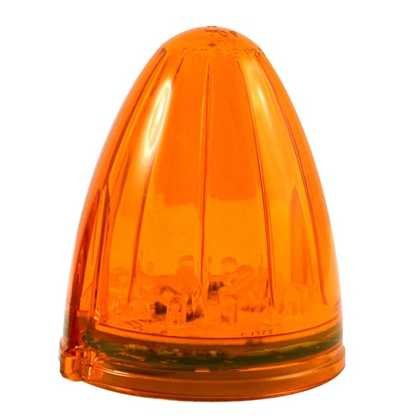Amber Torpedo 19 Diode LED Cab Light with Amber Lens