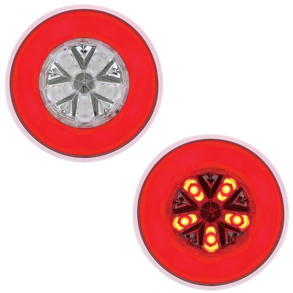 "4"" Round STT & PTC GLO Light Red Lit"