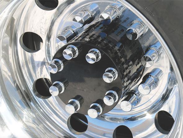 Gatling Gun Rear Axle Covers Universal Fit With Gloss Black Powder Coat Finish