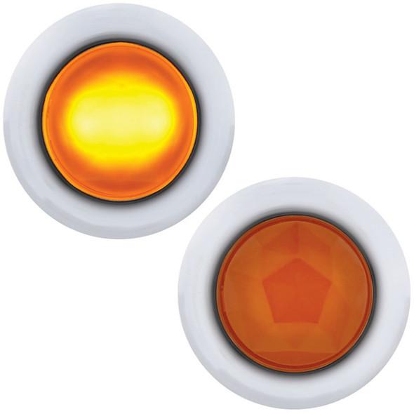 Dual Function Mini Diamond LED Light Amber