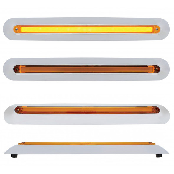 Freightliner 2005 & Up Mirror Cover LED GLO Light Bar Amber