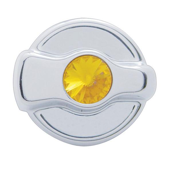 Peterbilt 2005 And Older Chrome AC Control Knob With Amber Diamond