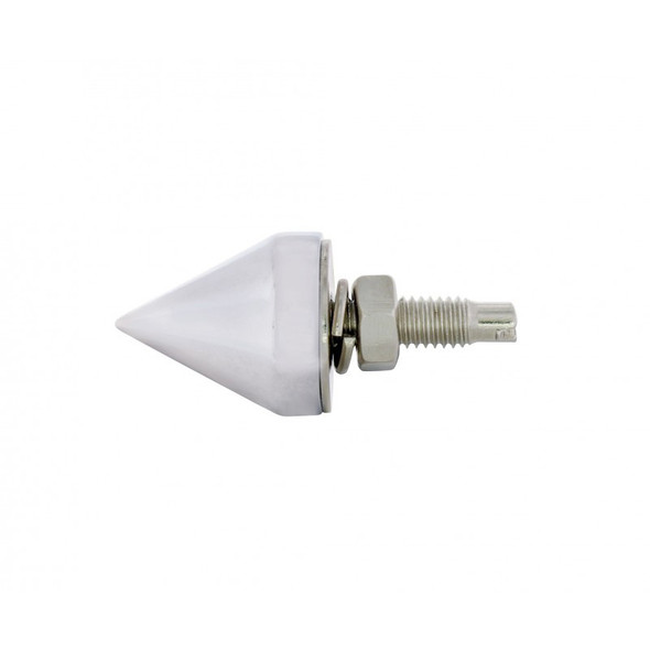 Chrome Spike License Plate Fasteners Side View