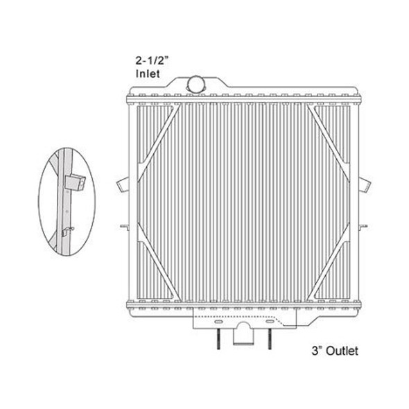 Peterbilt 387 Radiator With Centered Lower Connection 2007 Dimensions