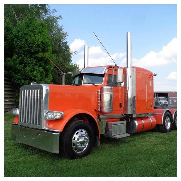 Peterbilt 365 388 389 Rolled End Square Bumper On Orange Truck
