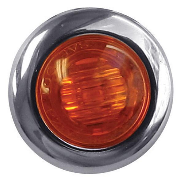 Mini Button Amber LED Marker Light
