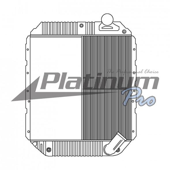 International 4100 7300 Series Half Core Radiator With Oil Cooler