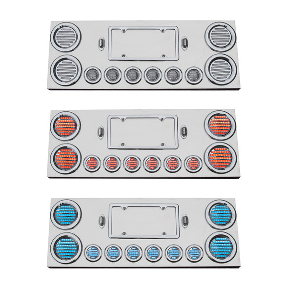 Rear Center Panel With Red & Blue Dual Revolution LEDs
