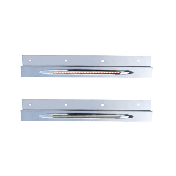 Stainless Steel Top Mud Flap Bracket Flatline Light Bar Clear Lens