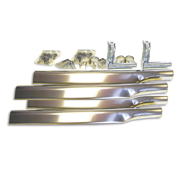 Stainless Steel Fully Smooth Super Long Low Rider Single Axle Fender Mounting Kit