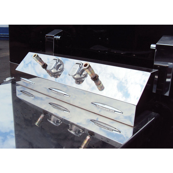 Stainless Steel Universal Trailer Service Box With 3 Slim Flatline Red LEDs With Clear Lens