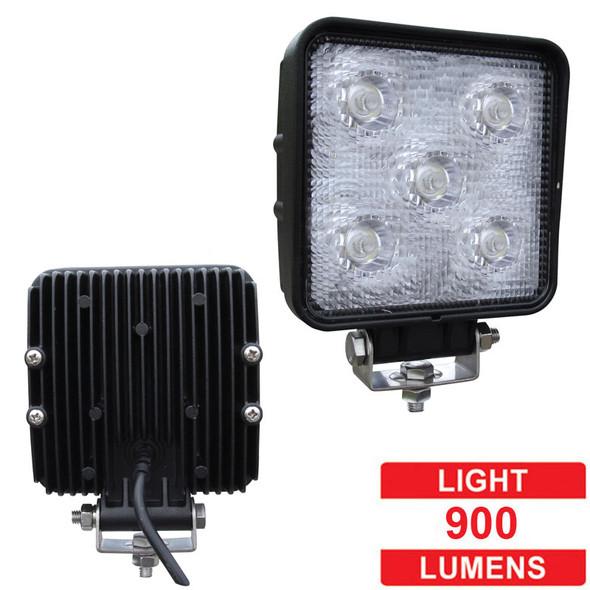 "3"" x 3"" Square Mini 5 Diode LED Flood Work Light - Lumens"