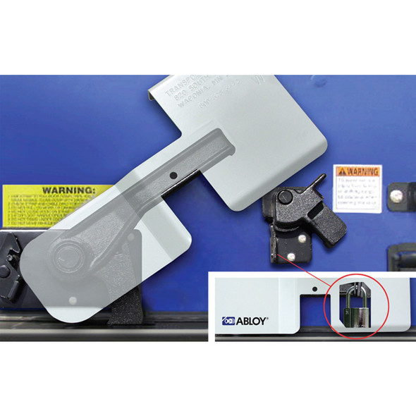 The Enforcer CargoGuard Latch Lock Visible Latch And Padlock