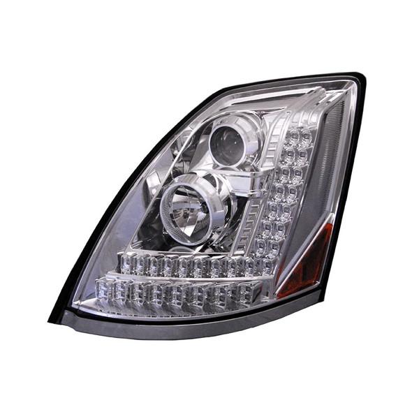 Volvo VNL Projector Headlights 2004 & Newer Driver Amber LED Turn Signal Light