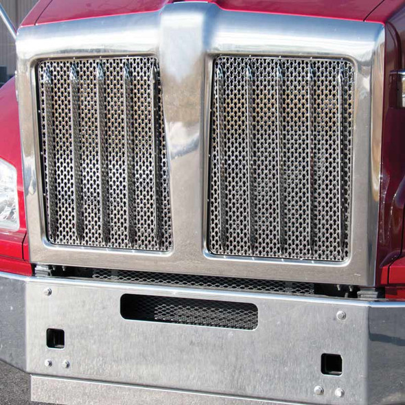 10 Kenworth Style Grill Bars Front View