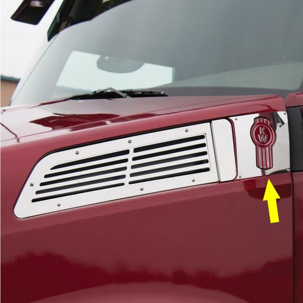 Kenworth T880 Behind Intake Logo Trim By RoadWorks