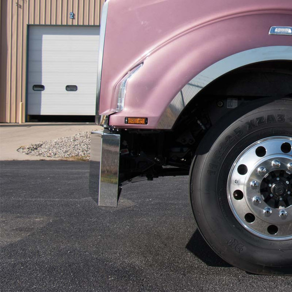 """Kenworth T880 18"""" 1 Piece Replacement Bumper Side View"""
