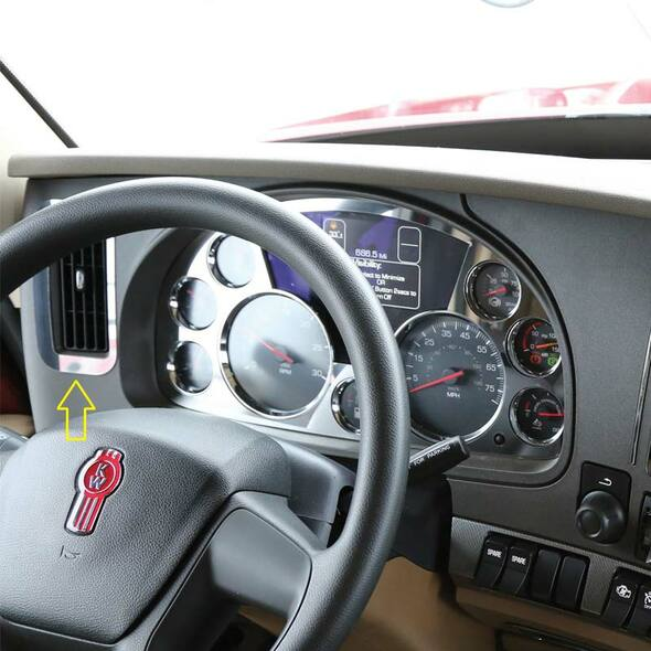 Kenworth T680 & T880 Driver Side End Dash Vent Trim