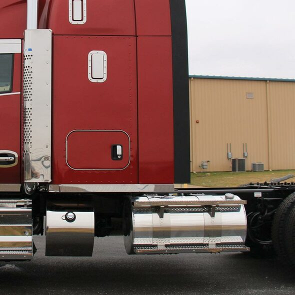 """Kenworth T680 T880 52"""" Blank Sleeper Panels With Extension And Dual Side Stacks"""