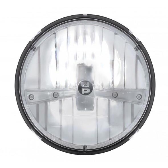 "7"" Round 5 High Powered Dual Function LED Chrome Headlight High Beam On"