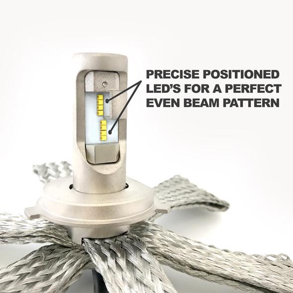 H7 LED Headlight Bulb Conversion Kit Generation 5 Close Up