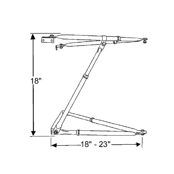 universal west coast mirror bracket assembly stainless steel Diagram