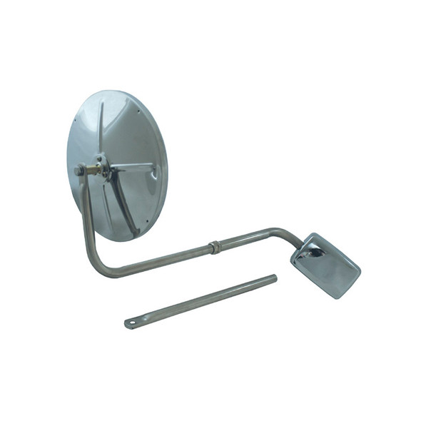 """8 1/2"""" Convex Stainless Steel Mirror Head Assembly"""