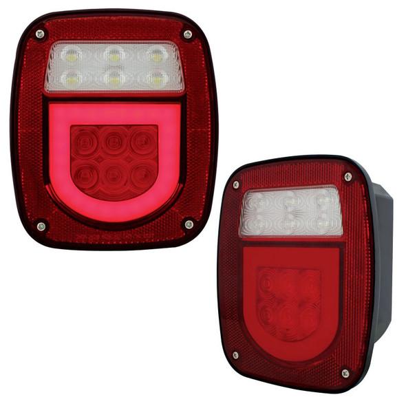 Universal Stud Mount LED STT License Combination GLO Light Lit Angle