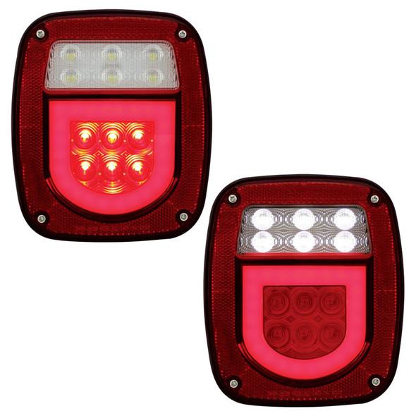 Universal Stud Mount LED STT License Combination GLO Light Lit