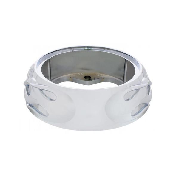 Chrome Flame Steering Wheel Horn Button Bezel Back