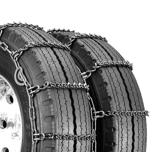 Quick Grip Tire Chain Round Twist V-Bar With Cams Close Up