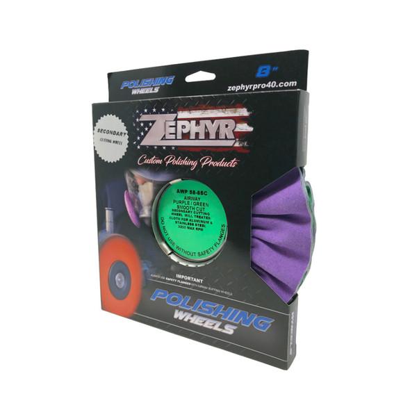 Zephyr Purple/Green Smooth Cut Airway Buffing Wheel Package
