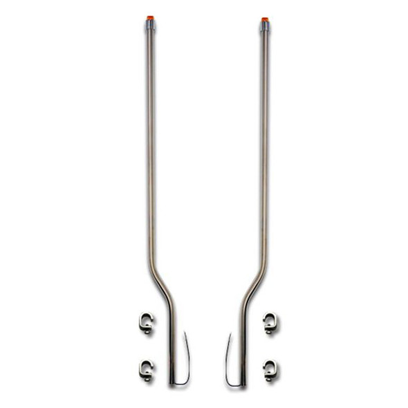 Kenworth W900L W900B Stainless Steel LED Bumper Guide