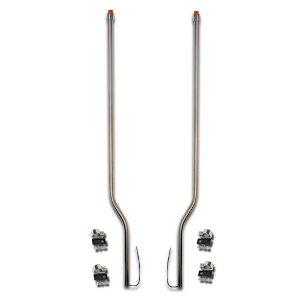 Western Star 5900 Stainless Steel LED Bumper Guide