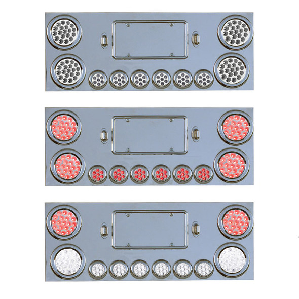 Rear Center Panel With Dual Revolution LED Lights And Red STT Lights