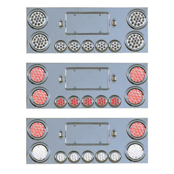 """Rear Center Panel With 8 Dual Revolution & 2 Red STT LED Lights 2 1/2"""""""