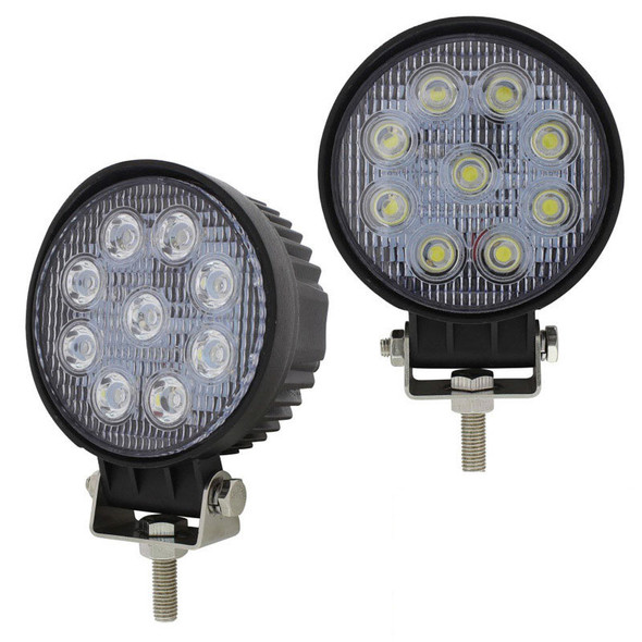 """4 1/2"""" High Power 9 LED Round Work Flood Light Competition Series"""