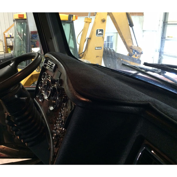 Black DashMat Dash Protector In Truck Front View