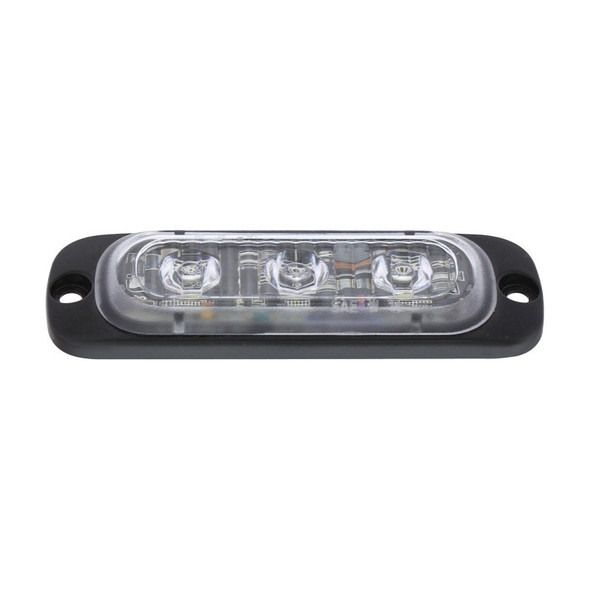 """3 High Power LED Super Thin 3/8"""" Warning Light Angle View"""