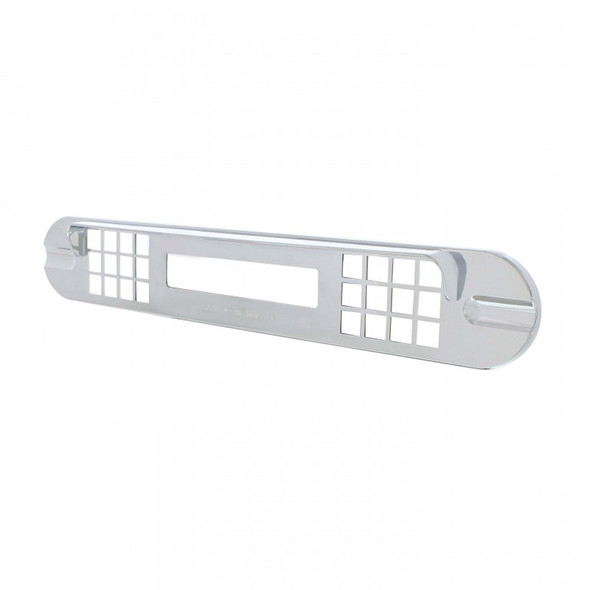 Freightliner Cascadia Chrome Center Instrument Cover Angle View